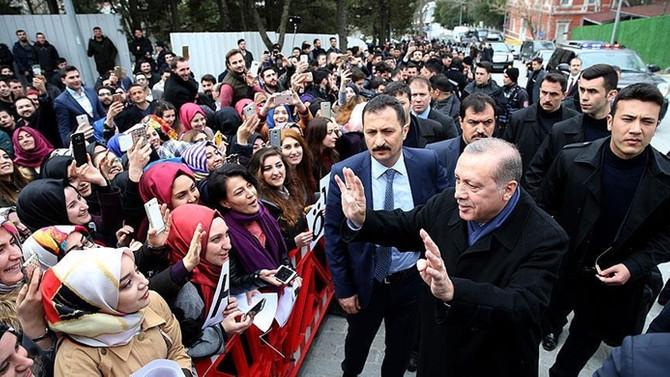Vatandaşlar Erdoğan'ın doğum gününü kutladılar