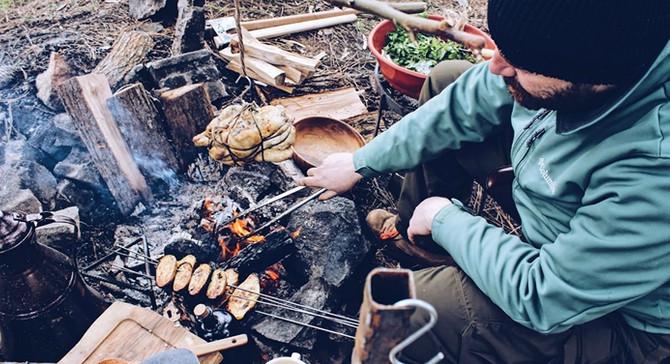 Doğada açık ateşte pişirme deneyimi!