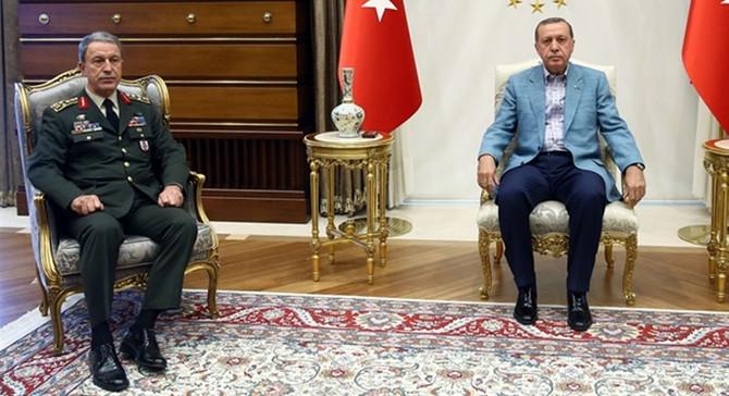 Erdoğan ile Akar'dan sürpriz görüşme