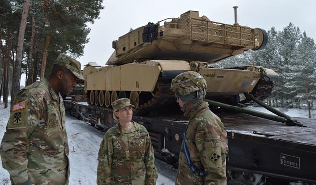 ABD tankları Baltık ülkelerinde
