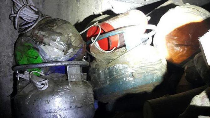 Voleybol topuna bomba tuzaklanmış
