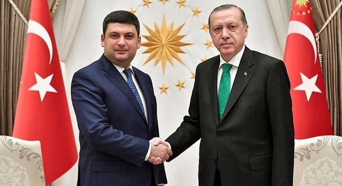 Erdoğan, Ukrayna Başbakanı Groysman'ı kabul etti