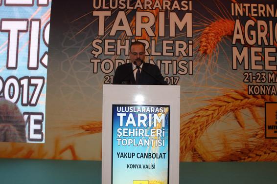 'Uluslararası Tarım Şehirleri Toplantısı Konya'da yapılıyor'