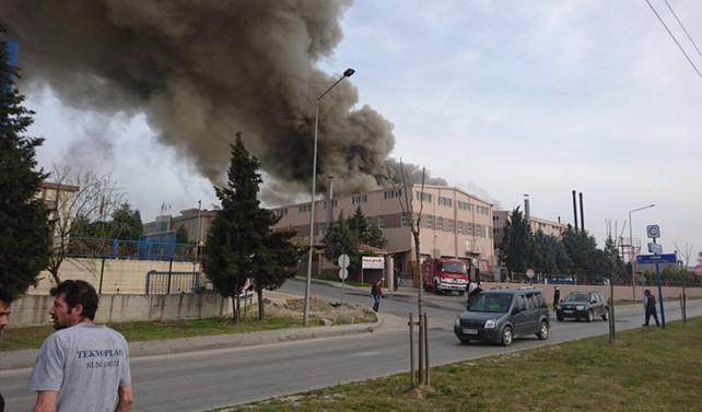 Tekstil fabrikasında patlama