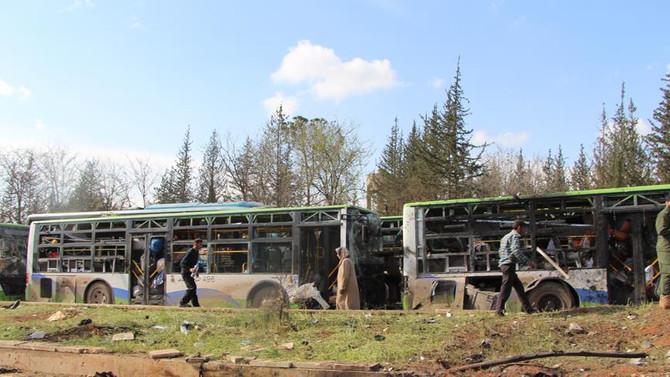 BM, Suriye'de tahliye konvoyuna saldırıyı kınadı