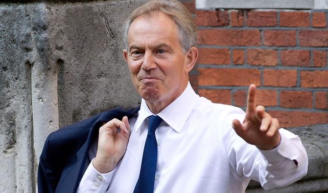 Blair'den Macron'a destek