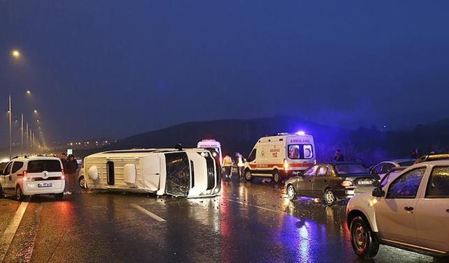 Başkentte zincirleme trafik kazası: 7 yaralı