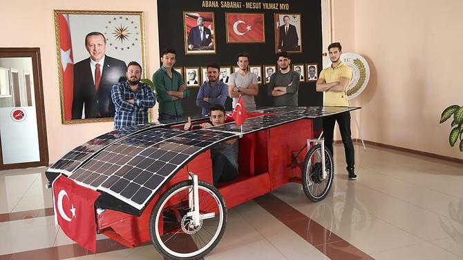 Güneş enerjisiyle çalışan otomobil yaptılar