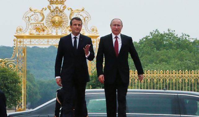 Macron ile Putin görüştü