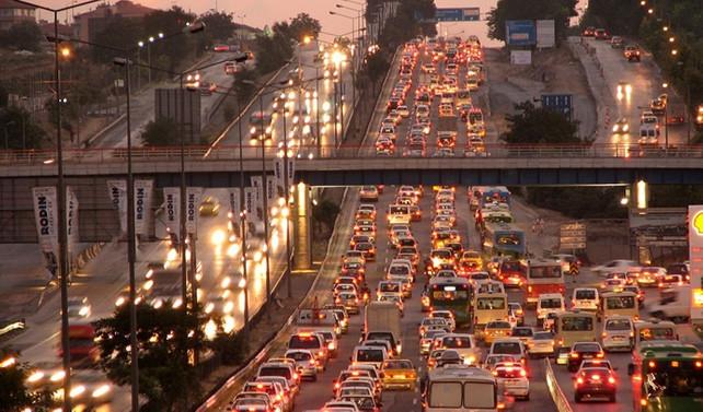 Trafiğin en yüksek olduğu 3'üncü şehir İstanbul
