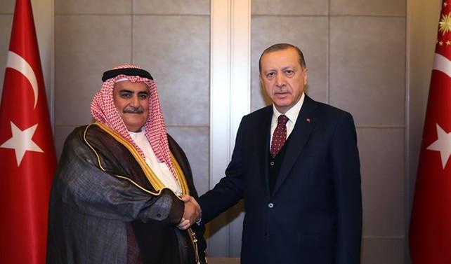 Erdoğan, Bahreyn Dışişleri Bakanı ile görüştü