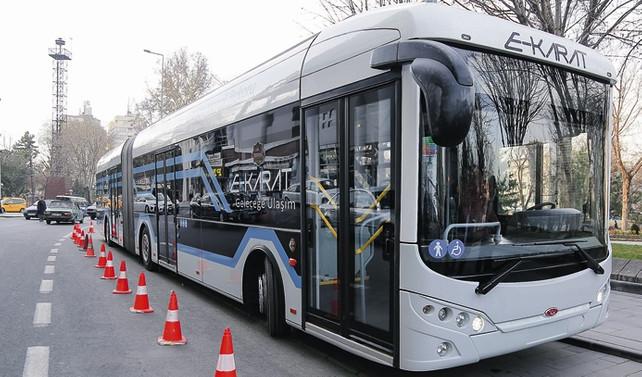 Bozankaya elektrikli otobüste iddialı büyüyor
