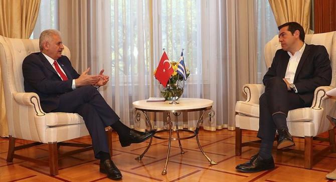 Başbakan Yıldırım ile Çipras görüşmesi başladı