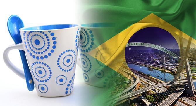 Brezilya pazarı için porselen kupa talep ediliyor