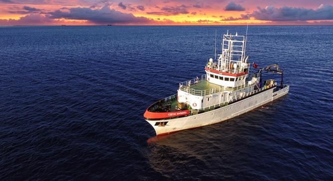 R/V TÜBİTAK Marmara Araştırma gemisi 3 denizi dolaştı