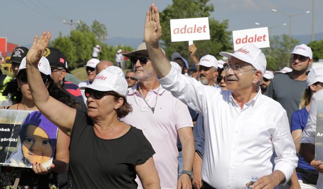 'Adalet yürüyüşü'nde 11. gün tamamlandı