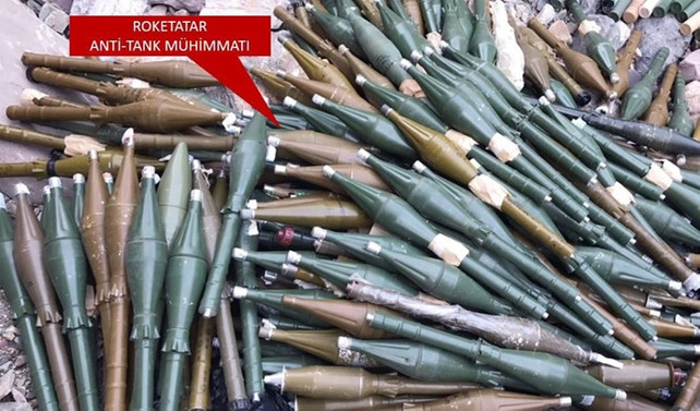 Şırnak'ta 620 roket sevk fişeği ele geçirildi