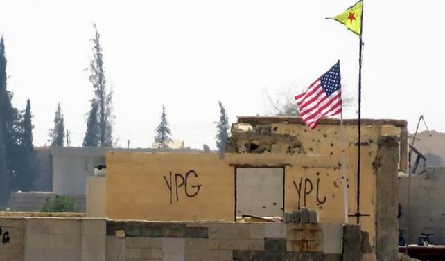 PYD 'karargahı'na ikinci ABD bayrağı asıldı