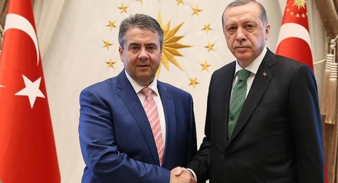 Erdoğan, Gabriel'i kabul etti
