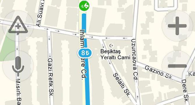 Yandex Navigasyon boşalan park yerlerini gösterecek