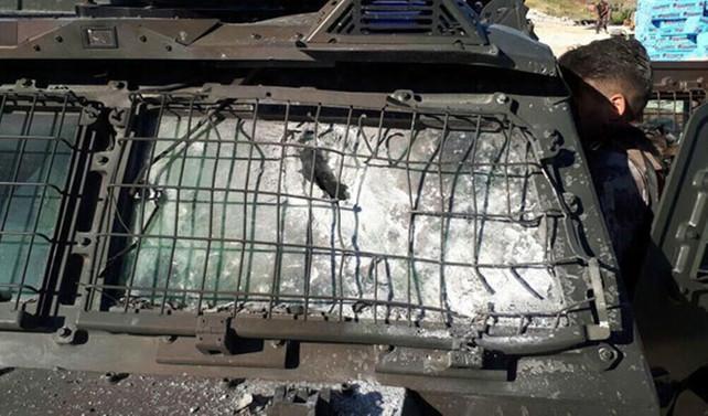Zırhlı polis aracına roketatarlı saldırı