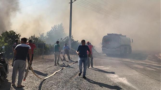Alanya'da villalar bölgesinde yangın çıktı