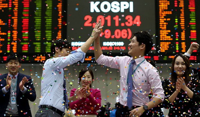Güney Kore'de Kospi kapanış rekoru kırdı