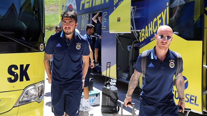 Fenerbahçe kafilesi İsviçre'ye gitti