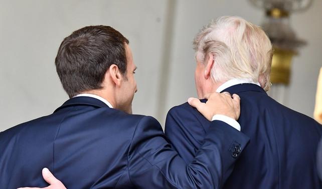 Trump, Macron'la  buluştu