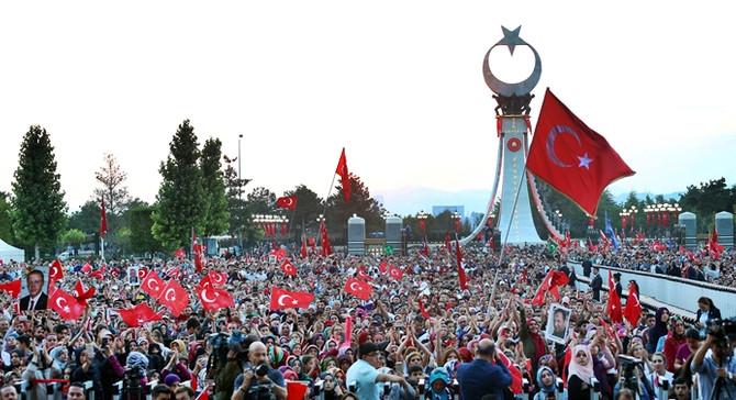 Beştepe'de 15 Temmuz Şehitler Abidesi açıldı