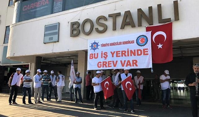 İZDENİZ'deki grev devam ediyor