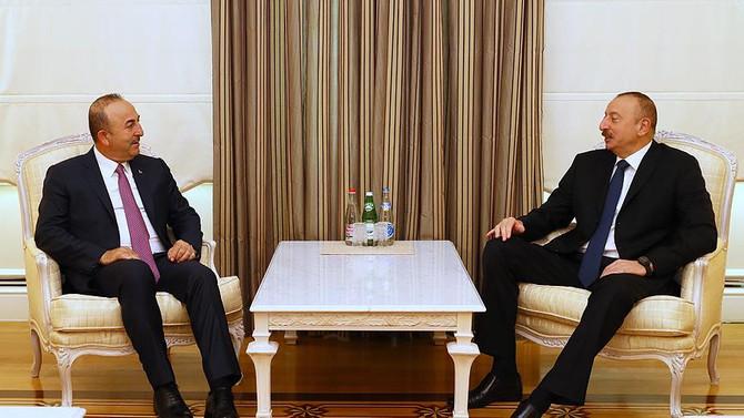 Çavuşoğlu, Aliyev ile görüştü