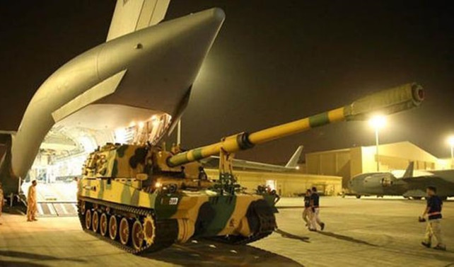 Topçu bataryasının Katar'a intikali tamamlandı