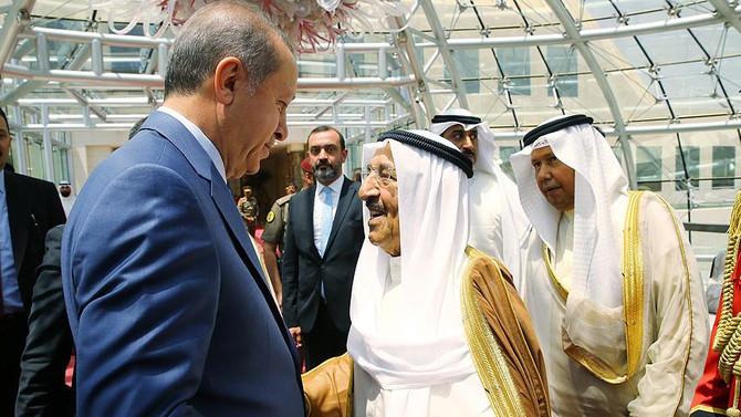 Erdoğan Kuveyt'ten ayrıldı