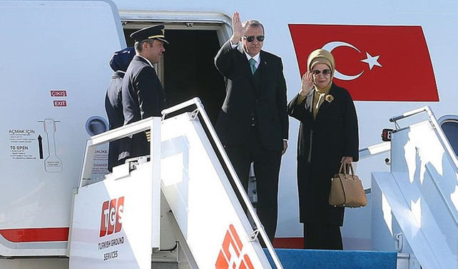 Erdoğan, Katar'dan ayrıldı
