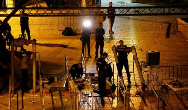 İsrail, Aksa'nın kapılarındaki dedektörleri kaldırdı