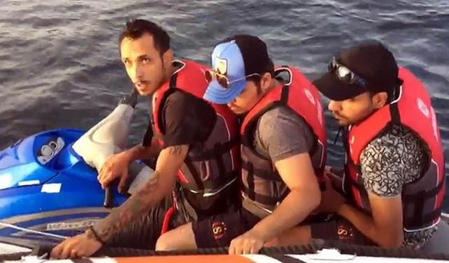 Jet-ski ile Yunanistan'a kaçmak isterken yakalandılar