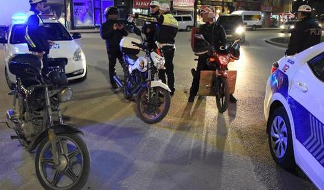 6 bin motosiklet trafik men edildi