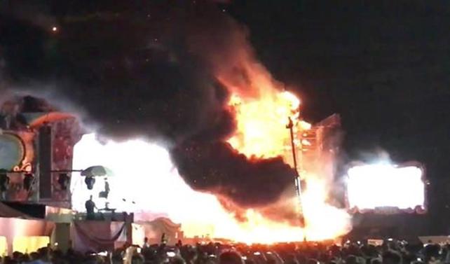Müzik festivalinde yangın: 22 bin kişi tahliye edildi