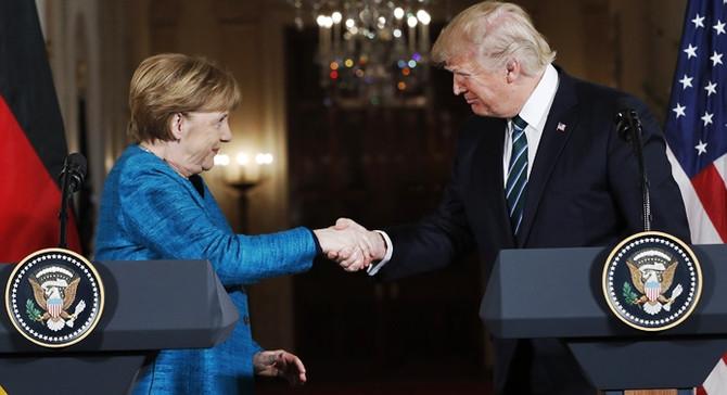 Trump, Merkel ve Gentiloni ile görüştü
