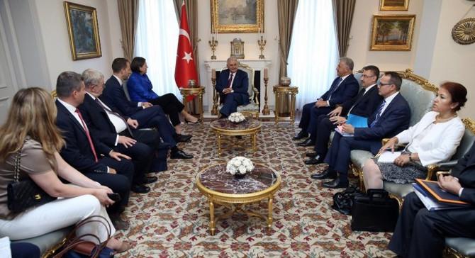 Başbakan Yıldırım, Bulc'u kabul etti