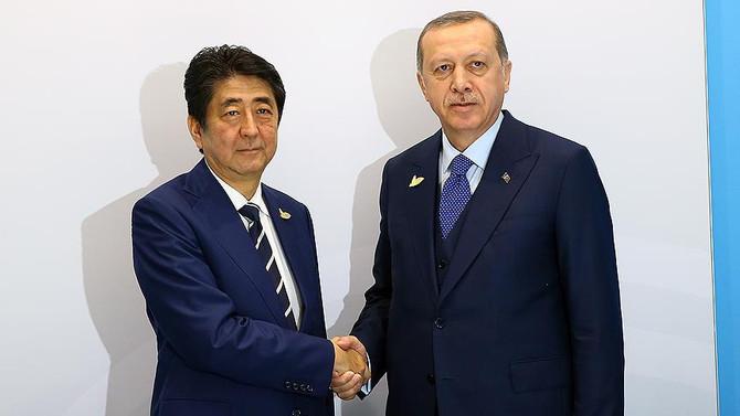 Erdoğan, Japonya Başbakanı Abe ile görüştü