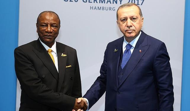 Erdoğan, Gine Cumhurbaşkanı ile görüştü