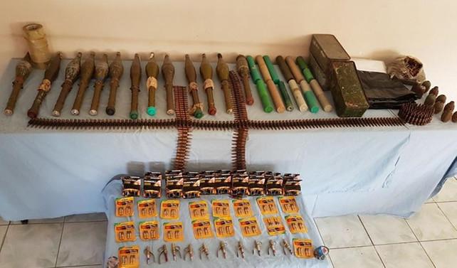 Teröristin gösterdiği yerde PKK'nın cephaneliği bulundu
