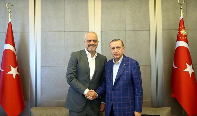 Erdoğan, Arnavutluk başbakanını kabul etti