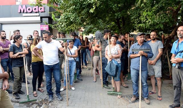 Tunceli'de yangın protestosu