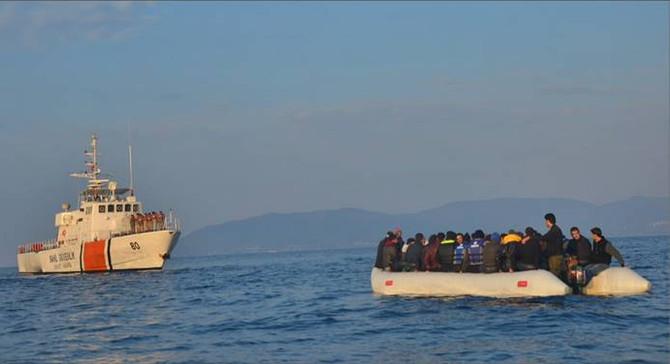 Ege'de bir haftada 420 kaçak göçmen yakalandı