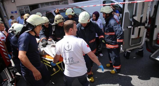 Bayrampaşa'da yangın: 1 ölü, 10 yaralı
