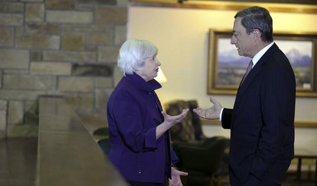 Piyasalar Yellen ve Draghi'nin açıklamalarını izliyor