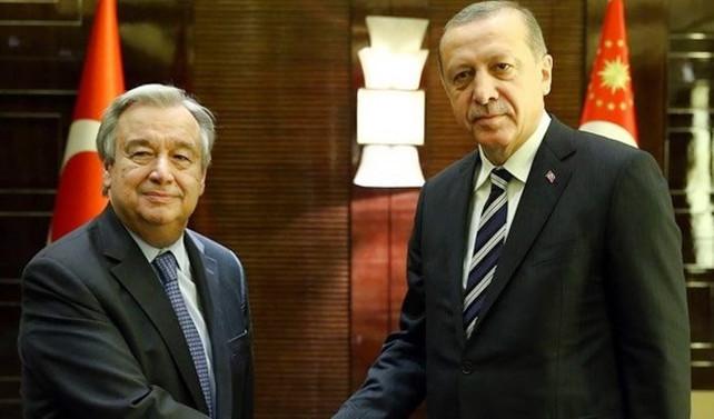 Erdoğan'dan Guterres'e Myanmar telefonu